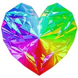diamond Rainbow Heart
